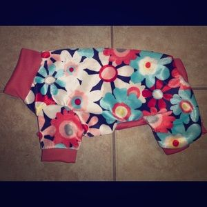 XS Flower Minky Dog Pajamas